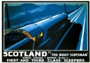 "Scotland by ""The Night Scotsman"". LNER Vintage Travel Poster by Robert Bartlett. 1932"